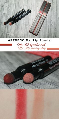 ARTDECO Mat Lip Powder Nr. 10 hynotic red & Nr. 20 spring day