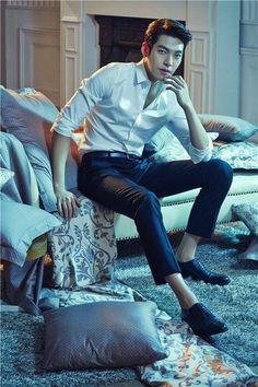 Kim Woo Bin for Mercury Textile. Korean Actresses, Asian Actors, Actors & Actresses, Kim Woo Bin, Korean Men, Asian Men, Korean Celebrities, Celebs, Yoo Ah In