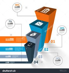 infographic 3d editorial | Modern 3d infographics for e-business, diagrams, charts, web sites ...