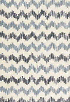 Fabric | Sierra Ikat in Indigo | Schumacher