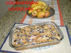 Cozinhaterapia Vovoszinha: Torta Rabanada com banana e uvas passas