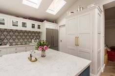Bespoke kitchens expertly crafted, designed and handmade in Kent from Herringbone Kitchens. Visit our kitchen studio in Canterbury. Victorian Kitchen, Studio Kitchen, Bespoke Kitchens, Farrow Ball, Brass Hardware, Herringbone, Tiles, Kitchen Cabinets, Navy Blue