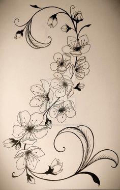 Cherry Blossom Tattoo by fallenangel0717