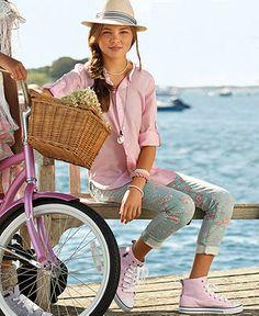 Ralph Lauren Kids Separates, Girls Tunic and Cropped Skinny Pants - Kids Ralph Lauren Girls 7-16 - Macys