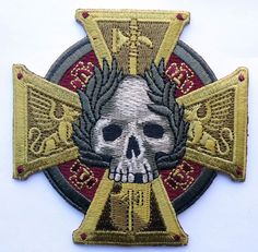Inquisition Warhammer 40k Sigmar Cross Skull Biker Patch