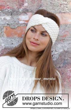 knit headband pattern Waiting for Snow Headband / DROPS - Gestricktes Stirnband mit Zopfmuster in DROPS Merino Extra Fine oder DROPS Karisma. Loom Knitting Patterns, Knitting Designs, Free Knitting, Free Crochet, Crochet Patterns, Knitted Headband Free Pattern, Crochet Beanie, Knitted Hats, Crochet Hats