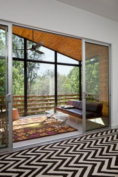 chevron black & white flooring, by Forsite Studio