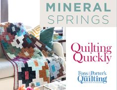 """Mineral Springs Quilt--how to sort of...can figure it out....use 2 1/2"""" strips, cut only 2 lengths--about 8 1/2"""" and 4 1/2"""""""