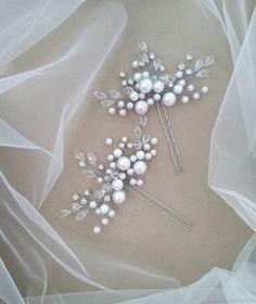 Bridal Earrings, Bridal Jewelry, Beaded Jewelry, Handmade Shop, Handmade Jewelry, Handmade Gifts, Hair Brooch, Bohemian Wedding Decorations, Bridal Hair Accessories