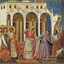 Expulsión de los mercaderes del templo Giotto