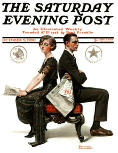 Rockwell, Norman (b,1894)- Election Debate- 'Sat Eve Post'- Oct. 1920 -2d