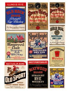 Typeverything.com - Antique Liquor Labels. (via @jillianadel)