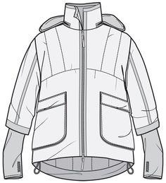 Image result for denim jacket flat sketch