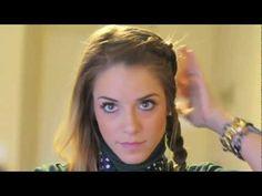 double braid tutorial. via gal meets glam.