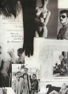 Haider Ackermann inspiration board, 2008