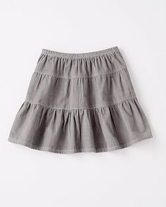 Tiered Pinwale Corduroy Skirt - Girls