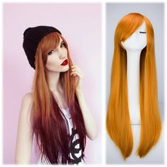 Go,Go,Go!Womens Beauty Long Straight Full Wig Heat Resistant Halloween Party Costume Anime Cosplay Hair Extension