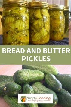 Bread and butter pickles are easy with this recipe from SimplyCanning! - This bread and butter pickle recipe is easy to make. A great sweet pickle for munching, topping san - Canning Sweet Pickles, Spicy Pickles, Homemade Pickles, Wickles Pickles Recipe, Kosher Pickles, Bread And Butter Pickle Canning Recipe, Bread & Butter Pickles, Homemade Bread And Butter Pickles Recipe, Sweet Pickle Brine Recipe