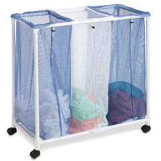 Three Mesh Rolling Laundry Sorter $19.95