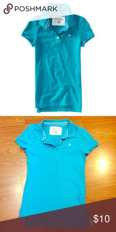 Aeropostale Stretch Polo Shirt Blue shirt, in great condition :) Size small & is very stretchy.s/p Aeropostale Tops