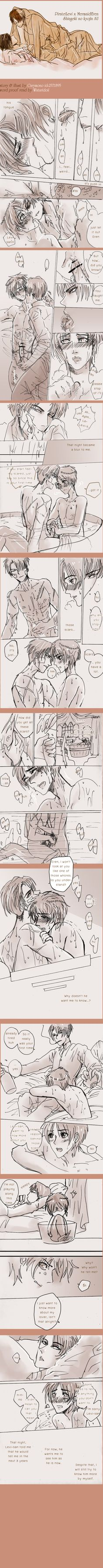 SnK'AU : Pirate!Levi x Mermaid!Eren part12 by illuscarymono.deviantart.com on @DeviantArt