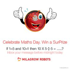 Celebrate Maths Day. Win a Surprise