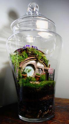 Hobbit Inspired Terrarium by livinginglass on Etsy, $175.00