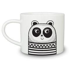 fun panda mug in fine white china by designer Jane Foster