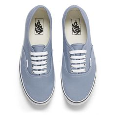 d4e836bd16 Vans Men s Authentic Trainers - Faded Denim True White