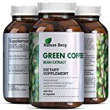 #healthyliving Natural Raw Green Coffee Bean Extract Extra Strength Pure Premium Antioxidant Beans 800 mg Max Fat Burner Supplement Super Cleanse Pills for Weight Loss Benefits Reviews Nature Berg Reviews