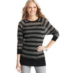 Striped Sweater Tunic | Loft