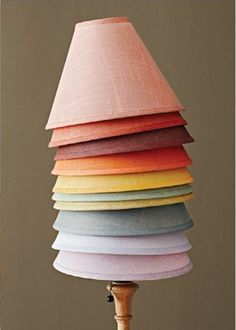 It's super easy to change the look of cloth lampshades. I saw this beautiful photo in Better Homes and Gardens  (and Lindsay from Everything...