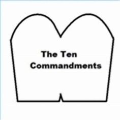 Image result for Blank Printable Ten Commandments Tablets