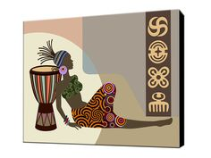 African Wall Decor African Woman African Artwork by iQstudio