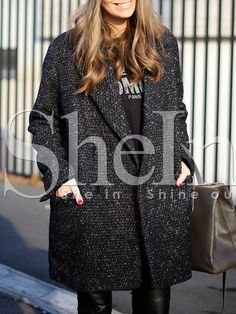 Shop Grey Long Sleeve Lapel Pockets Coat online. SheIn offers Grey Long Sleeve Lapel Pockets Coat & more to fit your fashionable needs.