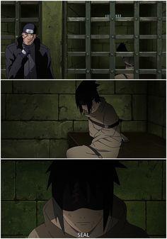 Sasuke in a straight jacket Sasuke X Naruto, Anime Naruto, Naruto Shippuden, Sasuke Uchiha Sakura Haruno, Naruto Fan Art, Naruto Cute, Sakura And Sasuke, Sasunaru, Boruto