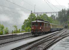 BLS / 100 Jahre Lötschbergbahn in Frutigen - Ae 4/4 251 mit Extrazug unterwegs bei Blausee-Mitholz am 29.06.2013 Swiss Railways, Light Rail, Electric Locomotive, Commercial Vehicle, Switzerland, Train, Parking Lot, Pictures