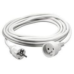 rallonge electrique 3 Metres cable blanc prix discount