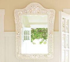 Pottery Barn Shell Mirror.