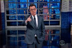 "Stephen Colbert put President Donald Trump on blast during his opening monologue on The Late Show Thursday night, dinging Trump for his social media attacks against U.S. judges for upholding the block on his travel ban.  ""He's just three weeks into his presidency and he's already attacking America's"