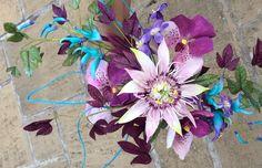cold porcelain passion flower, vanda orchid, jade vine and ipomea