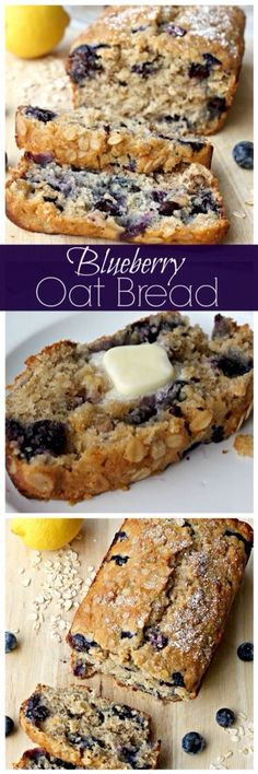Blueberries oat bread