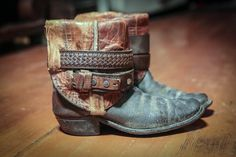 Gorgeous upcycled vintage cowboy boots. Lovely!