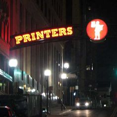 Relatively untouched by the rhinestone glamour and orchestrated yee-haws of Music Row, Printer's Alley stands testament to the grittier side of Nashville History. Nashville, The Row, Printer, History, Hot, Sweet, Candy, Historia, Printers