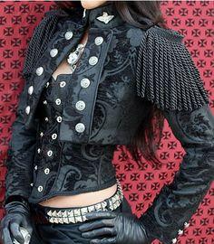 Toreador Jacket - DELUX - W/ LONG FRINGE by Shrine Clothing Gothic Dresses