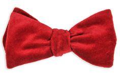 High Cotton   Red Velvet Bow Tie