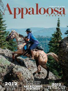October 2012 Appaloosa Journal cover  www.appaloosajournal.com
