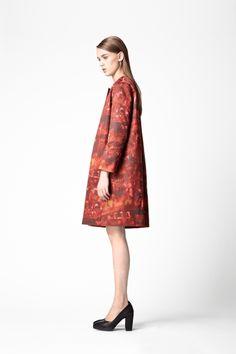 cos printed spring coat.