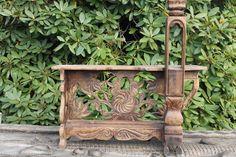 Indonesian Old Tobacco Cutting stool Folk Art Carved Teak Wood Kudus Java Bali Style, Into The Woods, Bali Fashion, Art Carved, Teak Wood, Java, Folk Art, Planter Pots, Stool