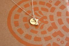 Circle Custom Dog Bone Necklace Small  by ChristyColeRescue, $30.00   @Marjorie Sardin Lindsey @Erin B Grove
